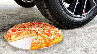 Experiment Car vs Pizza | Crushing Crunchy & Soft Things by Car | EvE