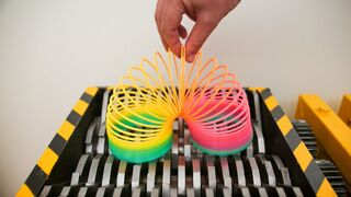 SHREDDING SLINKY and OTHER CRUNCHY THINGS! EXPERIMENT AT HOME