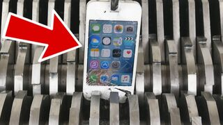 This is what happens when you put iphones in a Shredder!