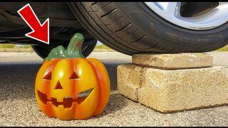 Crushing Crunchy & Soft Things by Car! - EXPERIMENT: PUMPKIN VS CAR