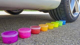 Crushing Crunchy & Soft Things by Car! - EXPERIMENT: CAR VS CRUNCHY THINGS