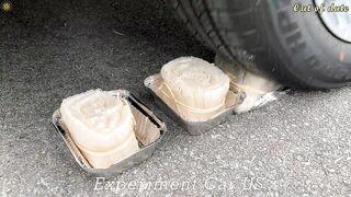 Experiment Car vs Coca Cola, Different Fanta, Mtn Dew, Pepsi, Sprite vs Mentos in Underground