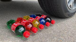 Experiment Car vs Coca Cola, Fanta, Mirinda Balloons   Crushing Crunchy & Soft Things by Car   #104