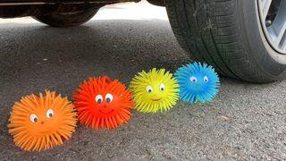 Experiment Car vs Doodles Ball, Coca cola, Fanta   Crushing Crunchy & Soft Things by Car   Car US