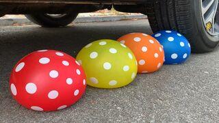 Experiment Car vs Balloons, Cola, Mirinda vs Mentos | Crushing Crunchy & Soft Things by Car | Car US