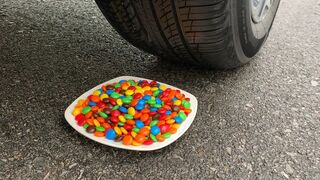 Experiment Skitlles vs Car vs Coca cola and Mentos | Crushing Crunchy & Soft Things by Car