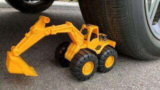 Experiment Long Balloons vs Car  vs Excavator Toys | Crushing Crunchy & Soft Things by Car