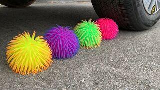 Experiment Car vs  Doodles Balls, Toy Guns   Crushing Crunchy & Soft Things by Car   Experiment Car
