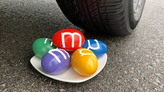 Experiment Car vs Giant M&M Candy | Crushing Crunchy & Soft Things by Car | Experiment Car US