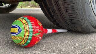 Experiment Car vs Big Chupa Chups, Lollipop   Crushing Crunchy & Soft Things by Car   Experiment Car