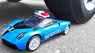Crushing Crunchy & Soft Things by Car! Experiment Car vs Sport Police Cars Toys