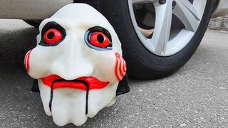 Crushing Crunchy & Soft Things by Car! Experiment Car vs Watermelon in Mask & Slime Antistress
