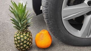 Crushing Crunchy & Soft Things by Car! EXPERIMENT: Car vs Coca Cola, Pineapple, Apples, Radish
