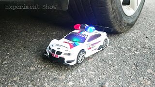 Crushing Crunchy - EXPERIMENT: Car VS Police Car Toy with Siren Sound Signals