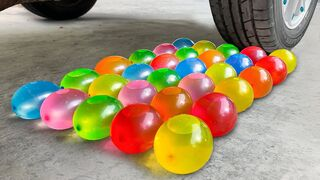 Crushing Crunchy & Soft Things by Car! Experiment: Car vs Water in Balloon