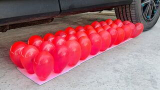 Crushing Crunchy & Soft Things by Car! Experiment: Car vs Red Balloons