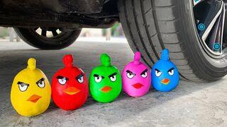 Crushing Crunchy & Soft Things by Car! Experiment: Car vs Rainbow Clay, Mentos