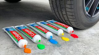Crushing Crunchy & Soft Things by Car! Experiment: Car vs Toothpaste