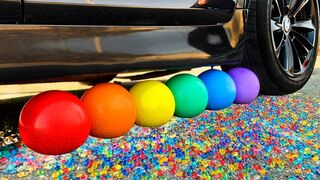 Crushing Crunchy & Soft Things by Car! Experiment Car vs Orbeez Balloons