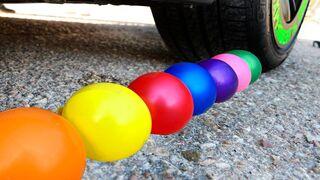 Crushing Crunchy & Soft Things by Car!   EXPERIMENT BALLOONS VS CAR