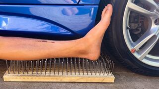 Experiment Car vs Plastic Foot  vs 200 Nails! Experiments and Crunch things with car