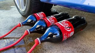 Crushing Crunchy & Soft Things by Car! Experiment: Car vs Cola in Red Balloons
