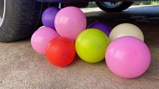 Crushing Crunchy & Soft Things by Car! Experiment: Car vs Air Balloons