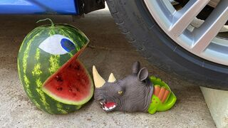 Crushing Crunchy & Soft Things by Car! Experiment: Car vs Watermelon vs Monster