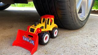 Experiment Car vs Tractor Bulldozer Toy! Crushing Crunchy & Soft Things by Car