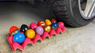 EXPERIMENT: Car vs Сolor Eggs - Crushing Crunchy & Soft Things by Car!