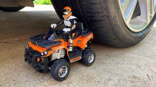 Experiment: Car vs ATV MotorBike - Crushing Crunchy & Soft Things by Car!