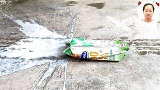 Experiment Coca Cola, Mirinda, Fanta, Pepsi vs Mentos in Different Holes Underground