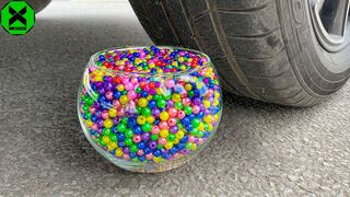 Crushing Crunchy & Soft Things by Car!- Experiment: Car Vs Toothpaste and Balloons | #1