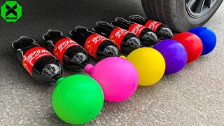 Crushing Crunchy & Soft Things by Car!- Experiment: Car vs Coca Cola vs Car Toys