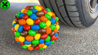 Crushing Crunchy & Soft Things by Car!- Experiment: Car vs Candy Ball, Jelly Car Toys