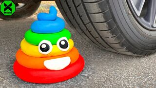 Crushing Crunchy & Soft Things by Car!- Experiment Car vs Squishy, Watermelon, Plastic Cups