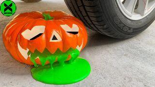 Crushing Crunchy & Soft Things By Car   Experiment: Car vs Big Pumpkin Halloween, Slime