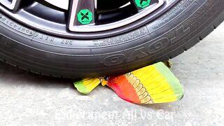 Crushing Crunchy & Soft Things By Car | Experiment: Car vs Glove