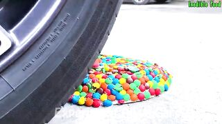 Crushing Crunchy & Soft Things By Car | Experiment: Car vs Jelly Colors, Plate