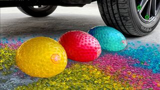 Crushing Crunchy & Soft Things by Car!- Experiment Car vs Orbeez in Balloons