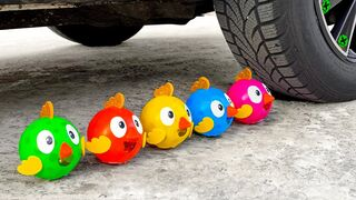 Crushing Crunchy & Soft Things by Car! Experiment Car vs Chicken and Orbeez