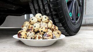 Crushing Crunchy & Soft Things by Car! EXPERIMENT CAR VS QUAIL EGGS