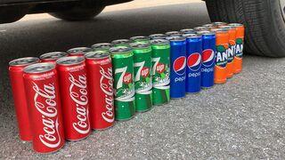 Giant Coca Cola, Fanta, Sprite and Big Pepsi, Mirinda, 7up, Chupa Chups vs Mentos Underground | #145