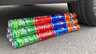 Coca Cola, Different Fanta, Mtn Dew, Pepsi, Sprite and mouth vs Mentos in Big Underground | #141