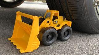 Crushing Crunchy & Soft Things by Car! Experiment Car vs Excavator, Dump Truck, Bulldozer Satisfying