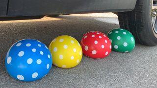 Experiment Car vs Balloons, Coca-Cola, Fanta, Sprite, Pepsi vs Orbeez vs Mentos in Big Underground