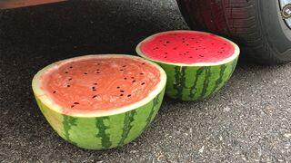 Crushing Crunchy & Soft Things by Car! Experiment Car vs Watermelon Juice vs Balloons | #136