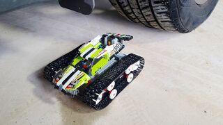 EXPERIMENT: Car vs Lego car - Crushing Crunchy & Soft Things by Car!