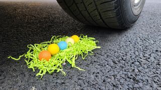 EXPERIMENT: Car vs Color Golf ball - Crushing Crunchy & Soft Things by Car!