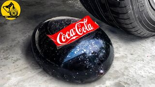 Crushing Crunchy & Soft Things by Car! Experiment: Car vs Giant Coca Cola Condom, Orbeez Balloon